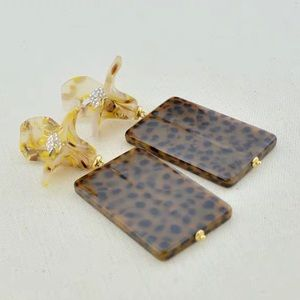 NWT Anthropologie lele sadoughi floral  earrings
